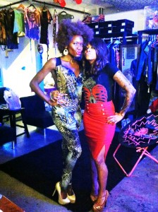 with designer Alonys Art in her studio.  Los Angeles California